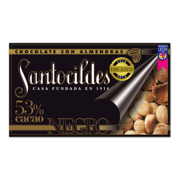 Chocolate Negro 53% Cacao con Almendras 200 grs