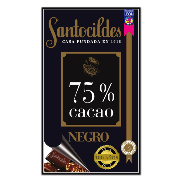 Chocolate Negro 75% Cacao 200 grs