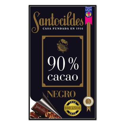Chocolate Negro 90% Cacao 200 grs