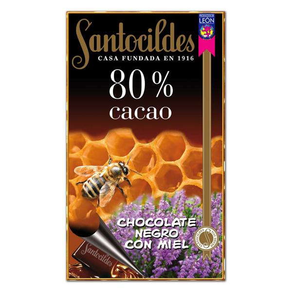 Chocolate Negro 80% Cacao con Miel 200 grs